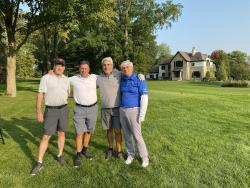 Golf Co-Chairman, Chris Atsaves with his foursome